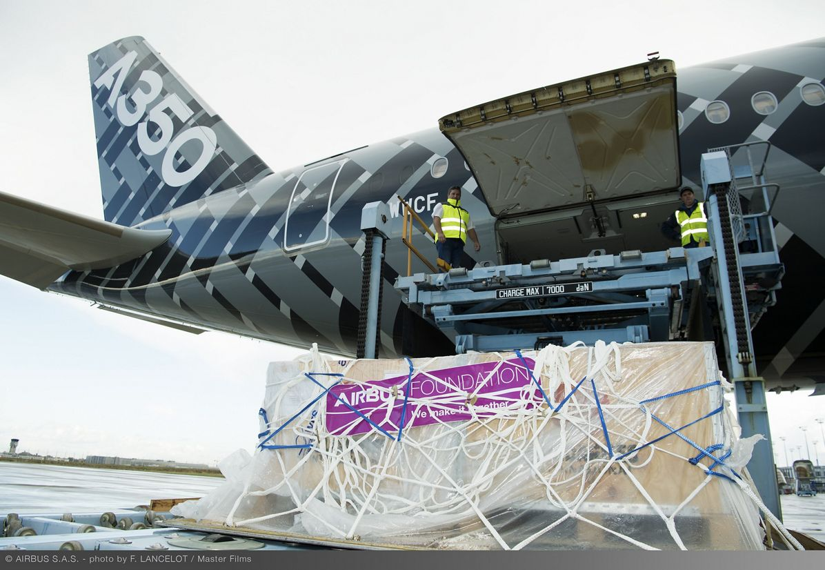 Loading Of Airbus Foundation Humanitarian Flight To Dubai 064