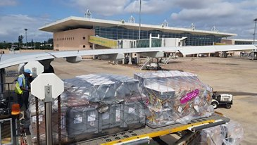 Airbus Foundation and IFRC cyclone Idai relief flight to Mozambique