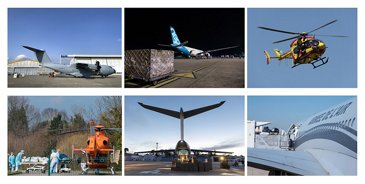 Airbus supports fight against COVID-19 – Photo montage