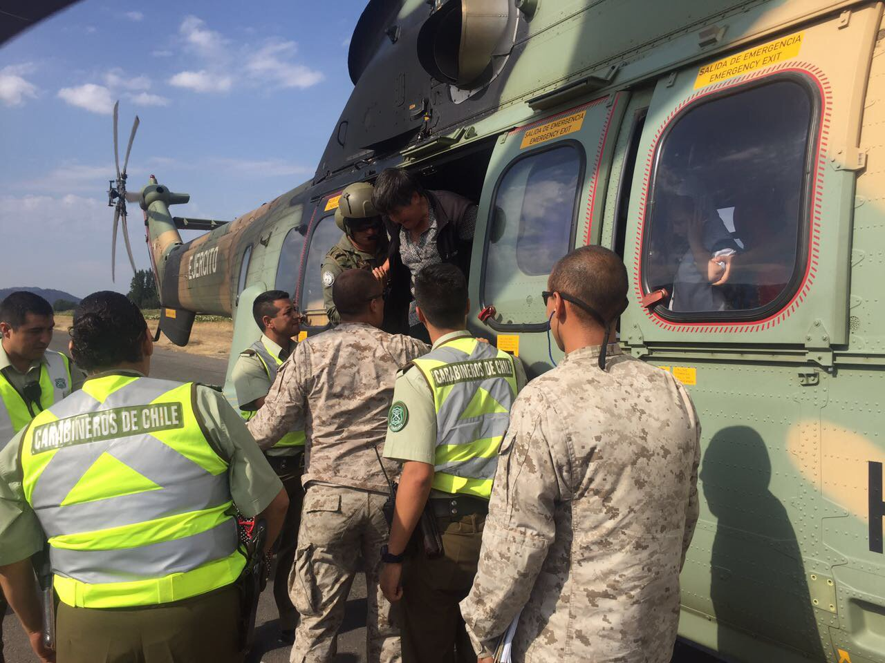 A pilot's account of the helicopter rescue effort after floods in Chile