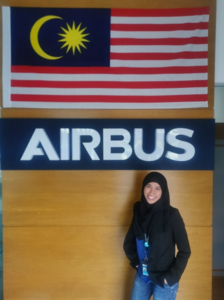 For the past four years, Hazirah Othman has been working with the Repair Solution group in Airbus.