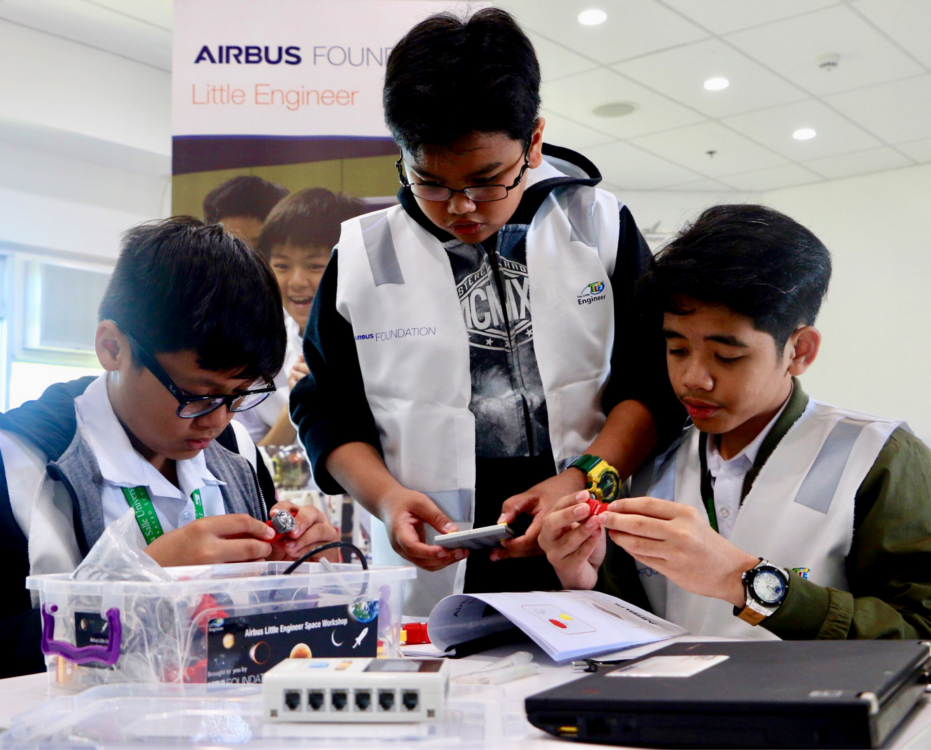 Students between the age of 10 and 16 attended the workshop in Manila.