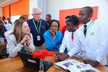 Students at the workshop in Kenya