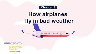 How airplanes fly in bad weather