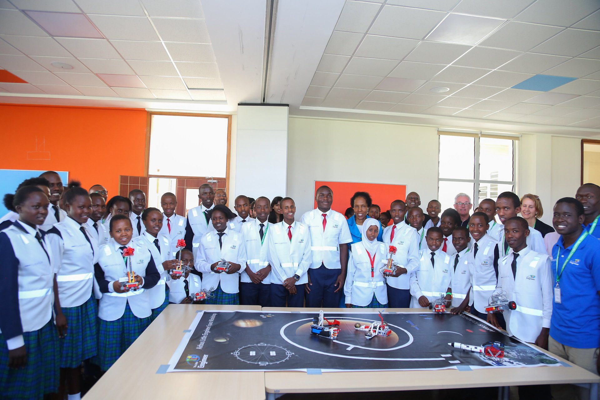 The workshop challenged close to 30 Kenyan students to carry out a simulation of a launch mission to space