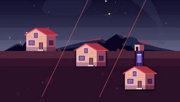 Entwerfen Sie Ihr eigenes Haus auf dem Mond
