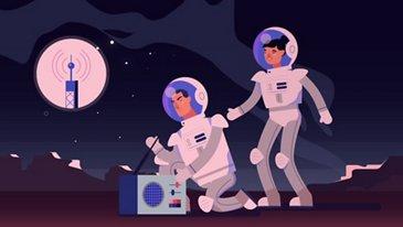 Mondstantion an Rover, empfangen Sie mich?