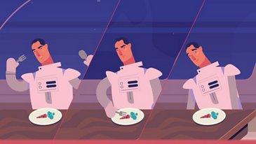 Ein Mond-Dinner unter Sternen