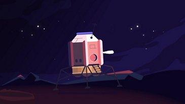 Aterrizando en la luna