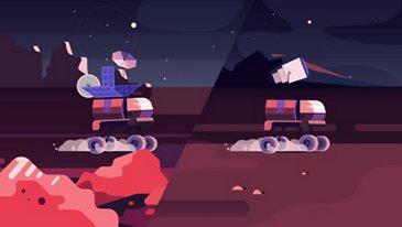 Ihr tägliches Pendeln auf dem Mond