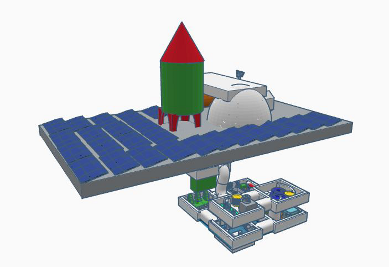 Representation of a winning moon camp design from the Italian-based Astromakers team.