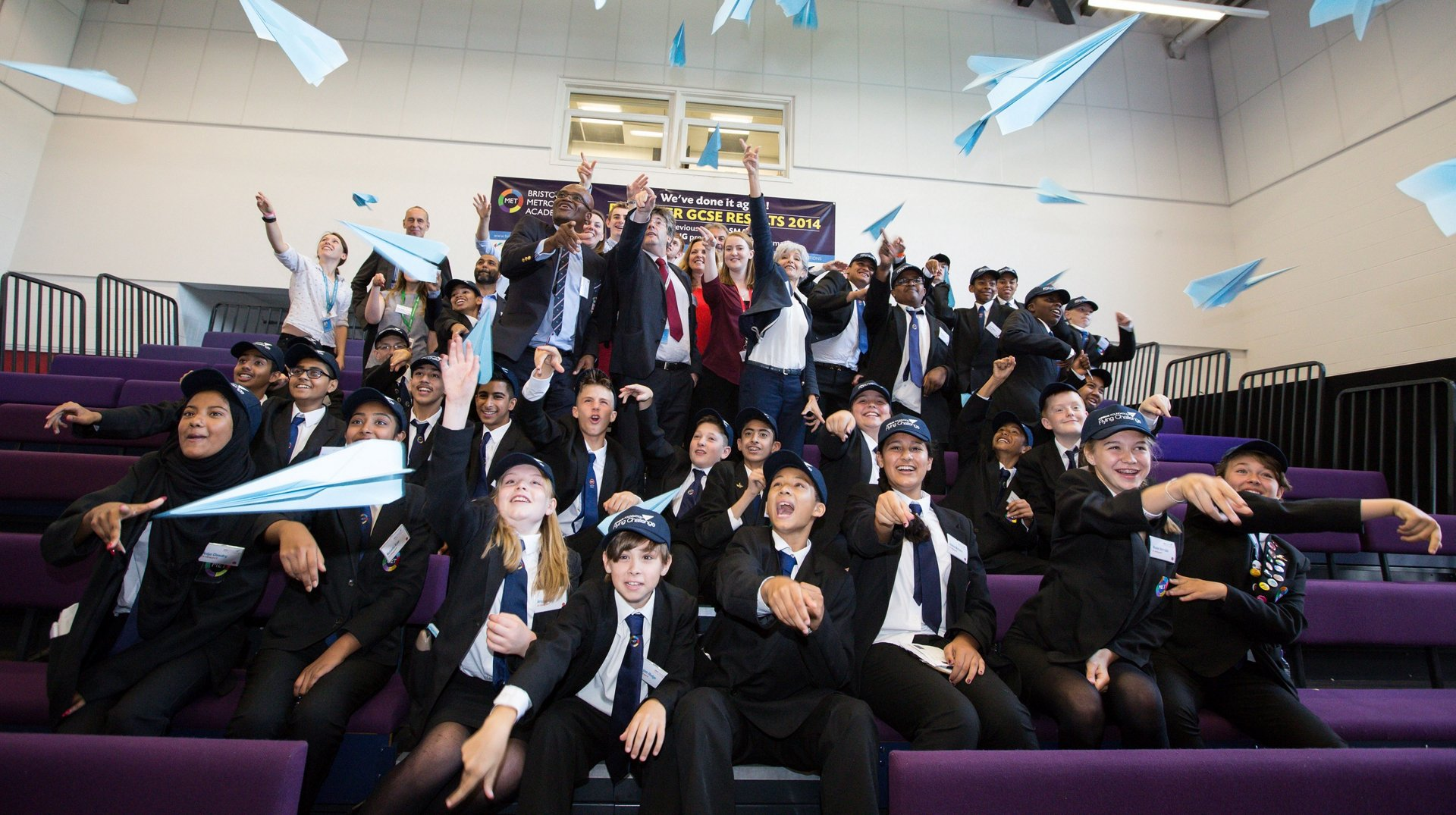 Launch of the Airbus Foundation Flying Challenge, Bristol Metropolitan Academy, Snowdon Road, Fishponds, Bristol.