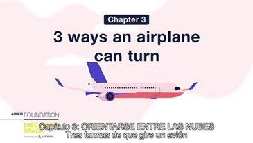 Tres formas de que gire un avión
