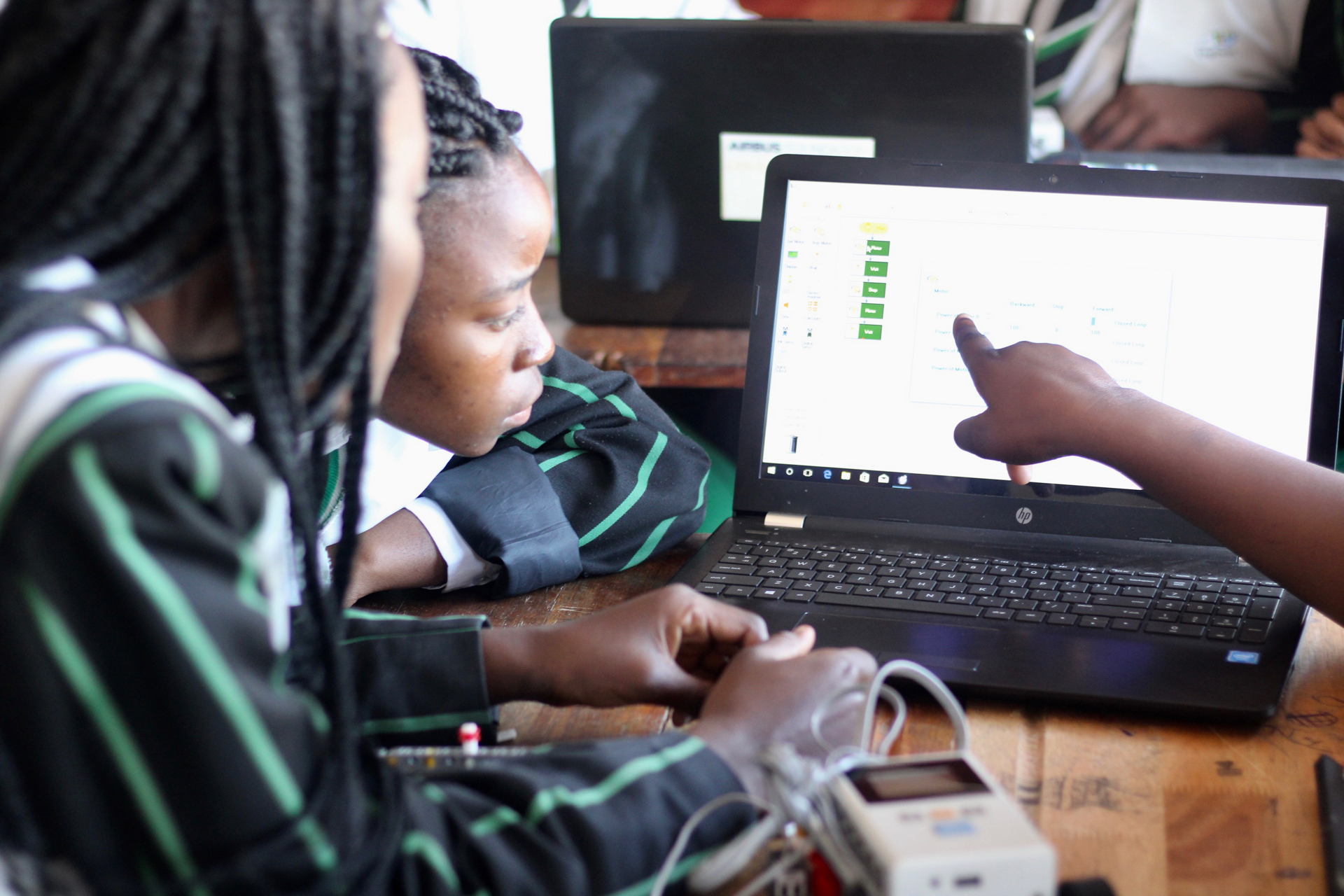 Students participate in a workshop organized by the Girls Fly Programme in Africa (GFPA) Foundation
