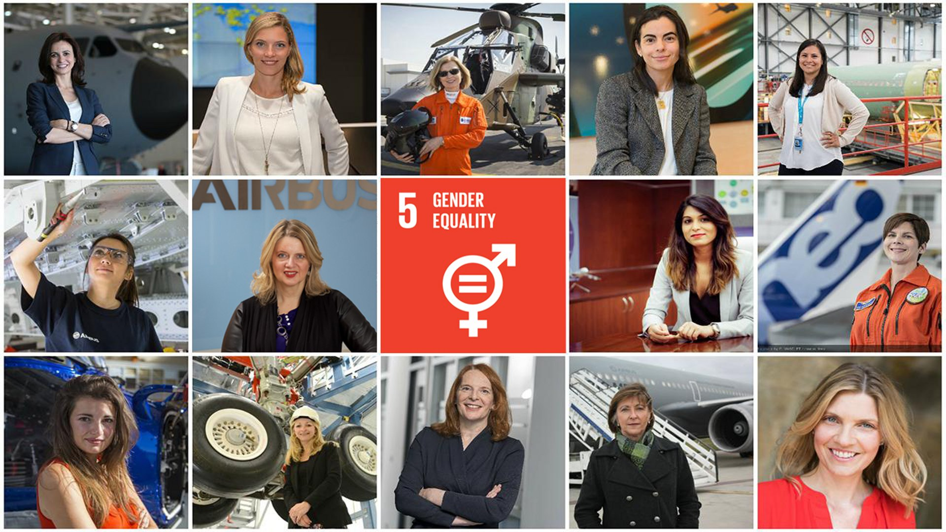 Women At Airbus Collage
