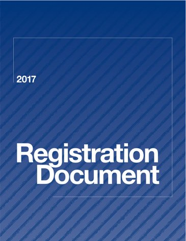 Annual Report 2017 : Registration Document 2017 - Registration Document
