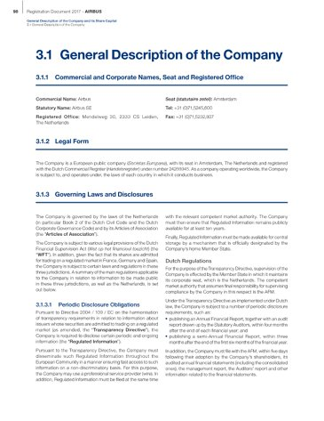Annual Report 2017 : Registration Document 2017 - General Description of the Company