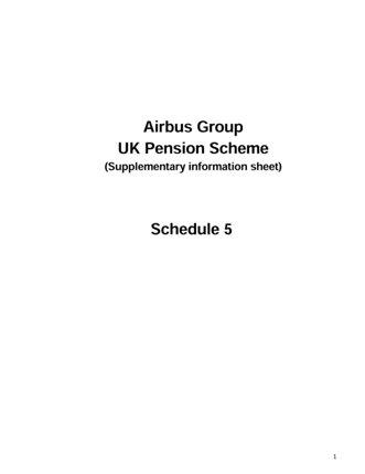 Schedule 5 Booklet