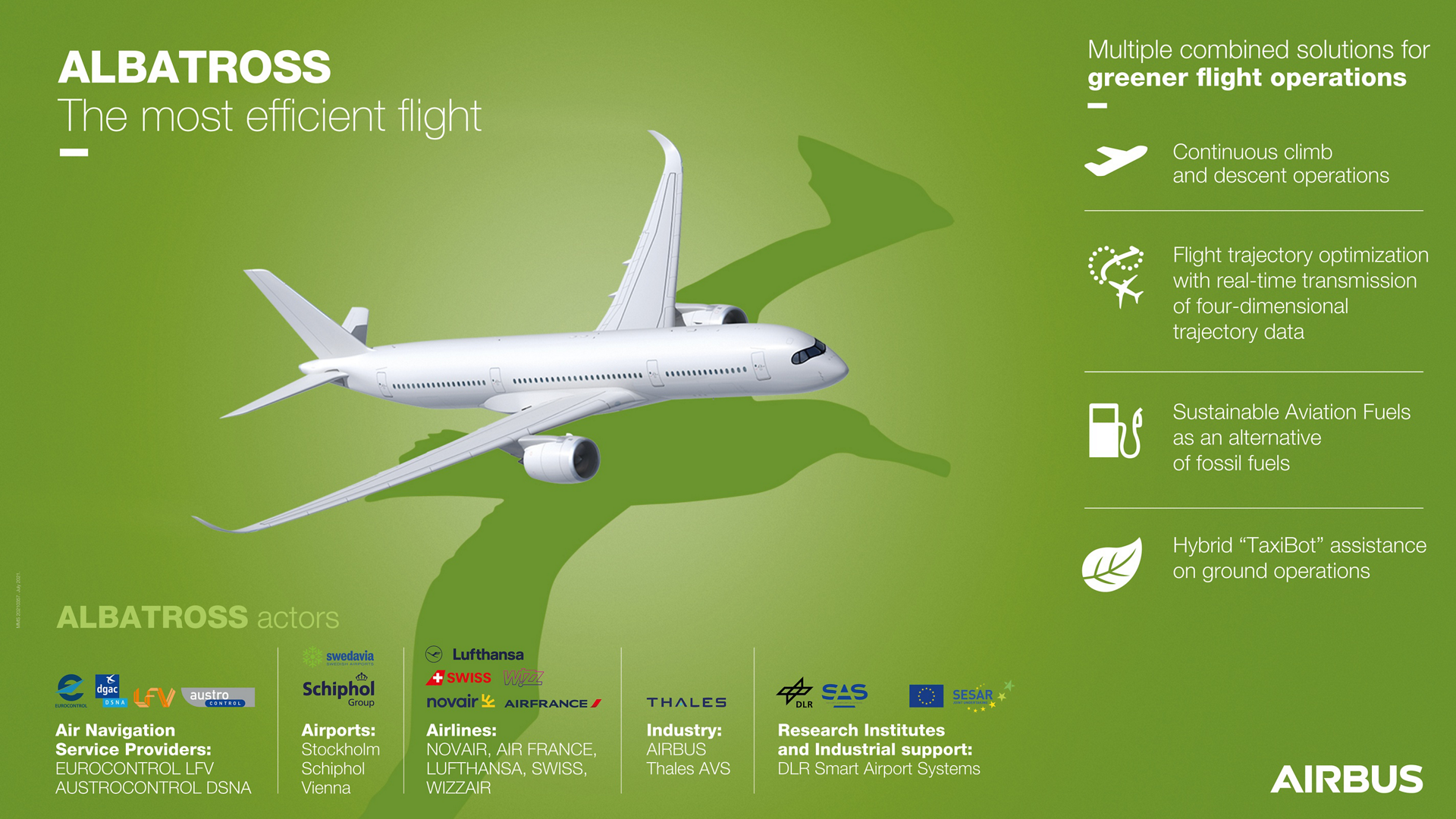 With the launch of ALBATROSS, a 2 year SESAR project aiming to implement the most efficient flight, Airbus is taking a further step to meet its commitment to pioneer a sustainable future.