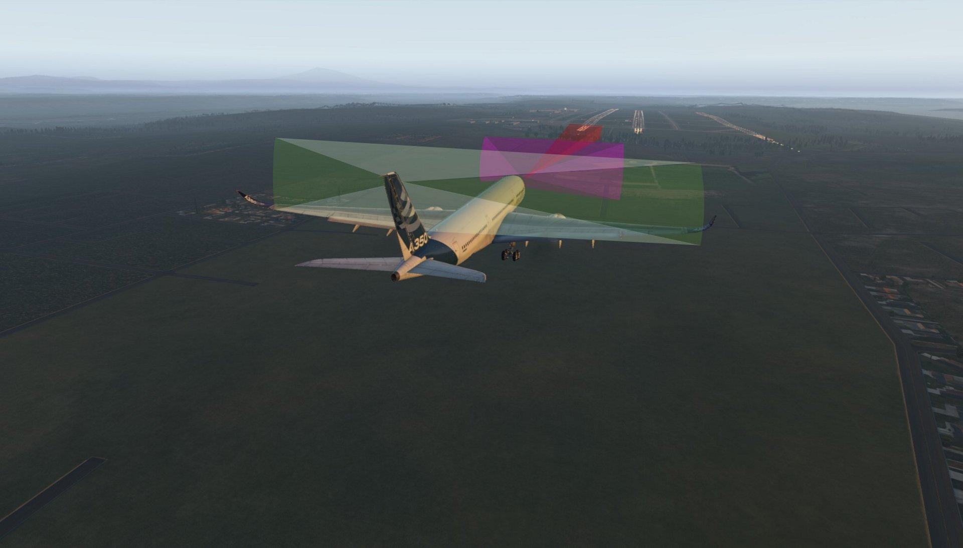 空中客车自动滑行、起飞和降落(ATTOL)项目的乐动体育app靠谱吗计算机渲染图。