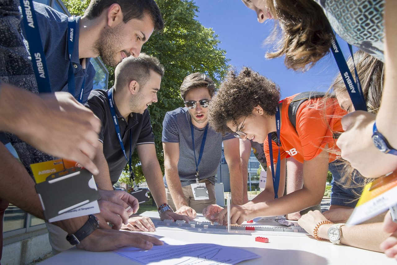 Airbus Airnovation Summer Academy teams are developing business proposals to address a major global challenge