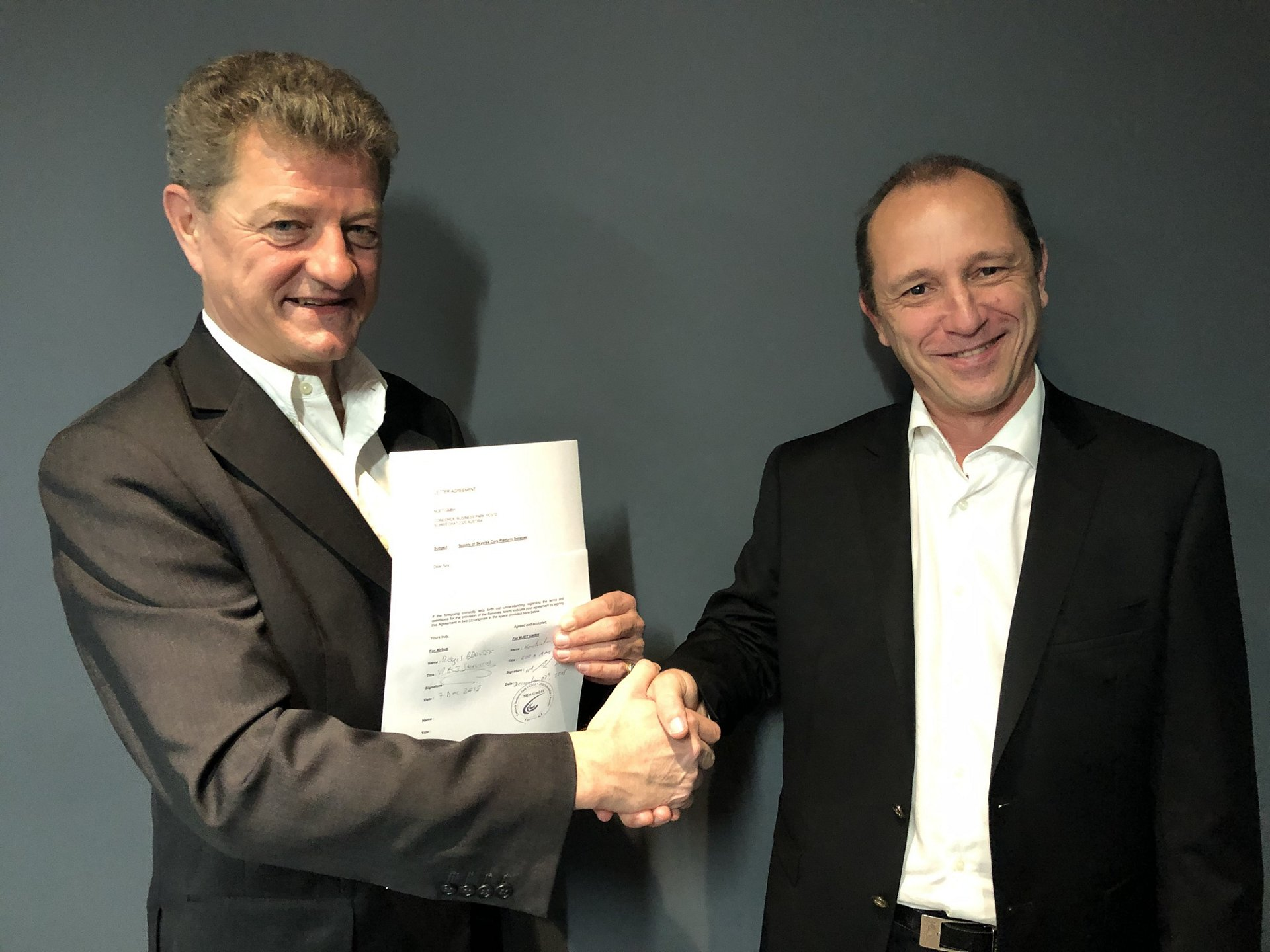 ACJ Contract signature