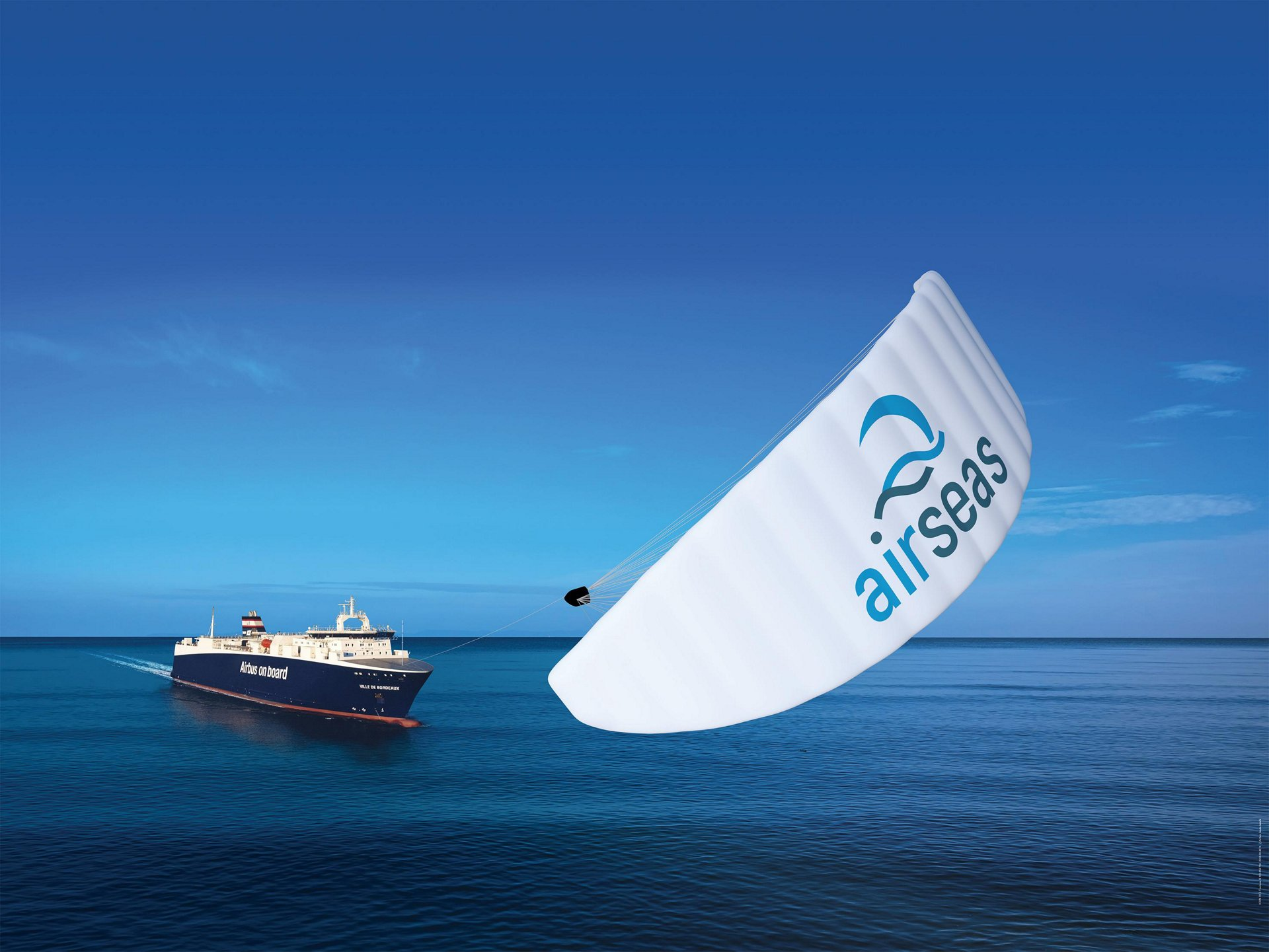 The SeaWing automated kite, which uses parafoil technology to tow large commercial ships, has been ordered from AirSeas – a small Airbus startup – to equip Airbus' own roll-on/roll-off (ro-ro) ships that transport large aircraft parts among its production sites