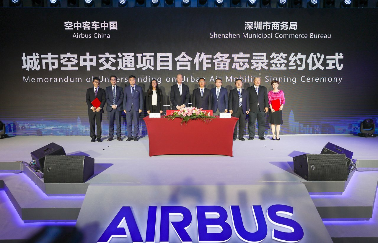 Airbus inaugurates its Innovation Centre in China at an office opening ceremony in Shenzhen, China, one of the world's leading innovation hotspots.