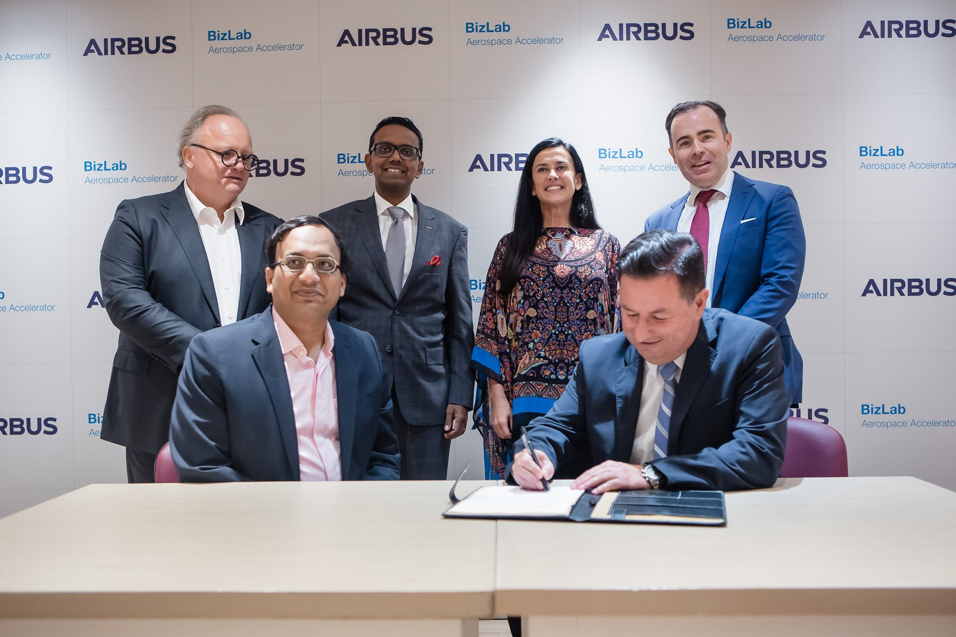 Airbus And Traxof Technologies Team At The Signing Ceremony