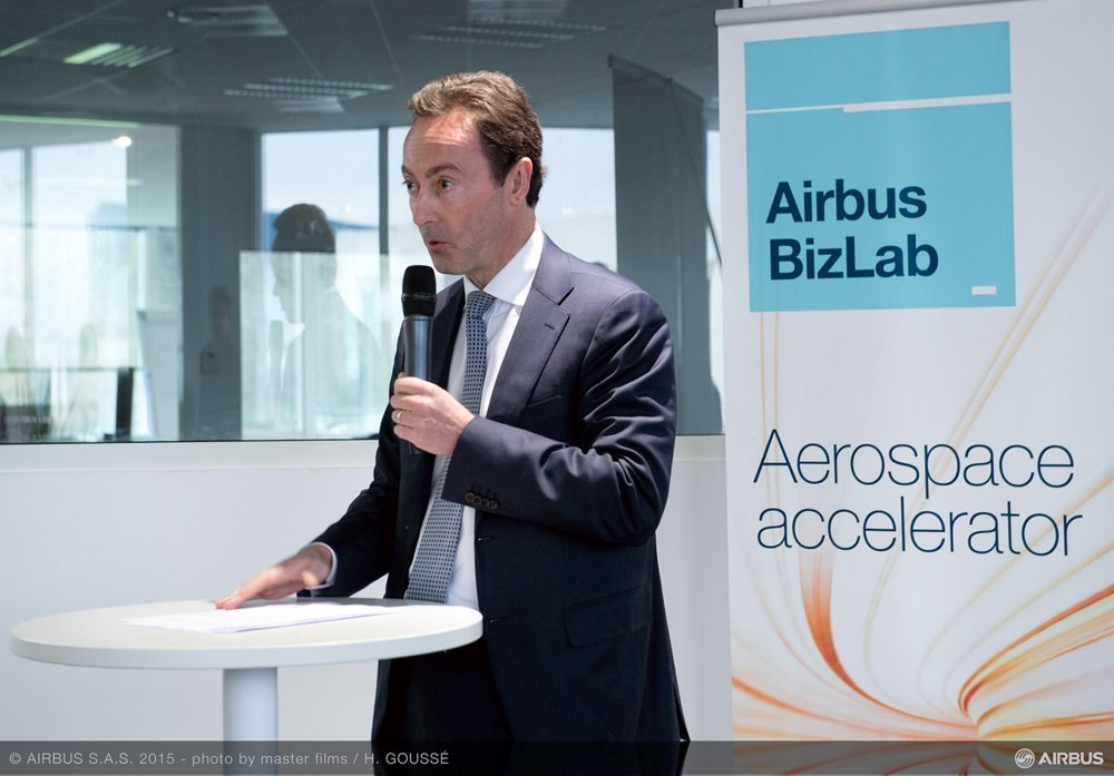 "Fabrice Brégier, Airbus President and CEO: ""BizLab will give Airbus added business agility by helping us to harvest the best innovative ideas coming from different sectors and to bring them to market more quickly"""