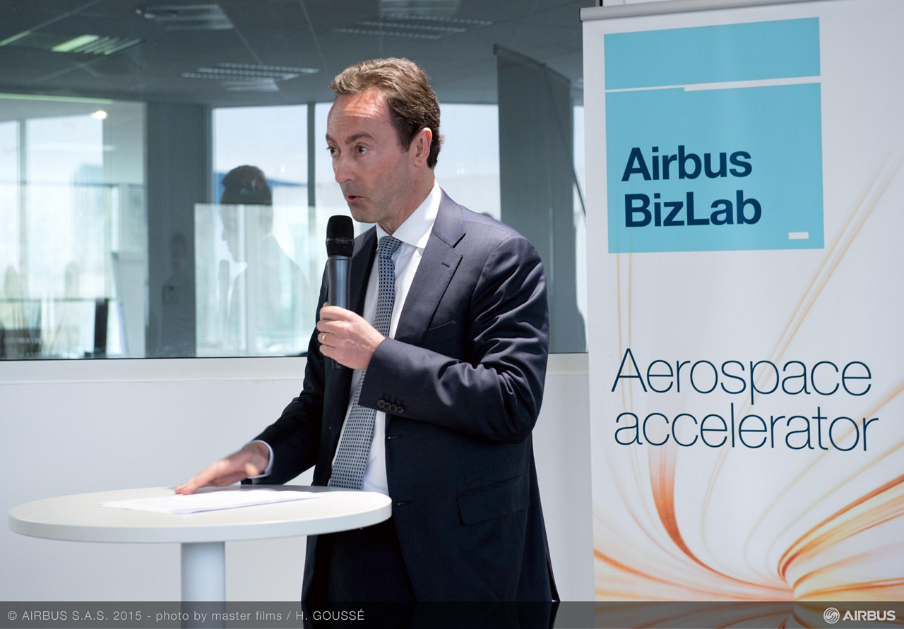 """Fabrice Brégier, Airbus President and CEO: """"BizLab will give Airbus added business agility by helping us to harvest the best innovative ideas coming from different sectors and to bring them to market more quickly"""""""