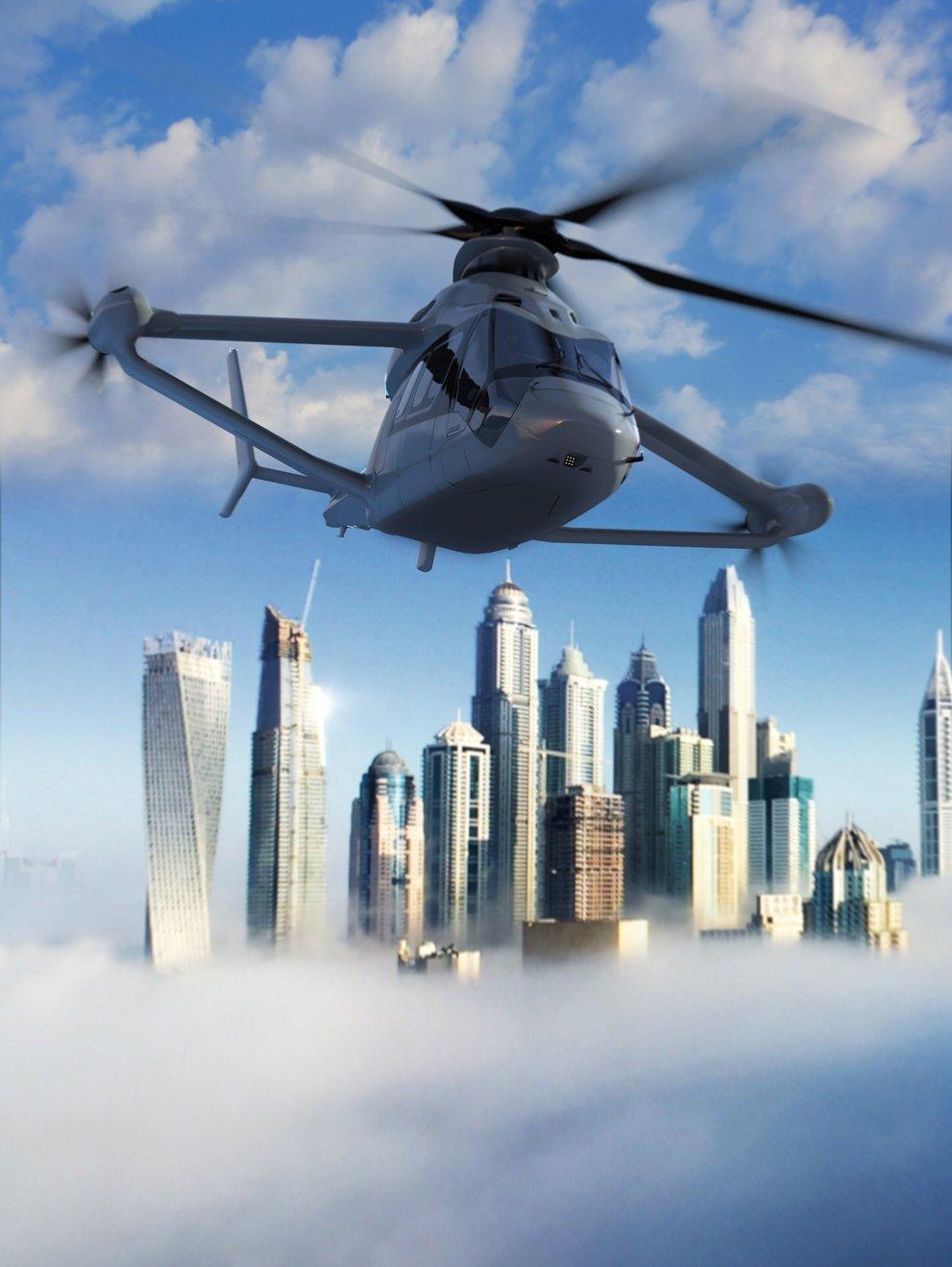 Racer elicottero Airbus Render di una visualizzazione frontale Credits: Airbus