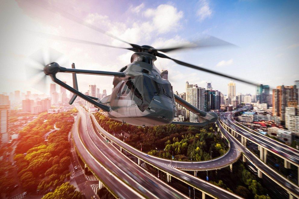 Racer elicottero Airbus Render cittadino dell'elicottero Racer di Airbus Credits: Airbus