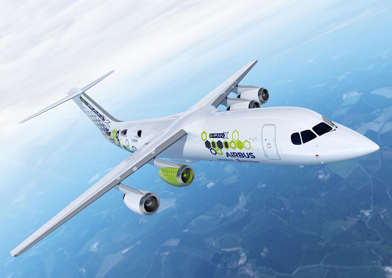 E-Fan X in flight