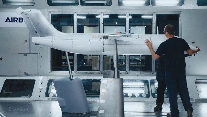 E-Fan X wind tunnel test model