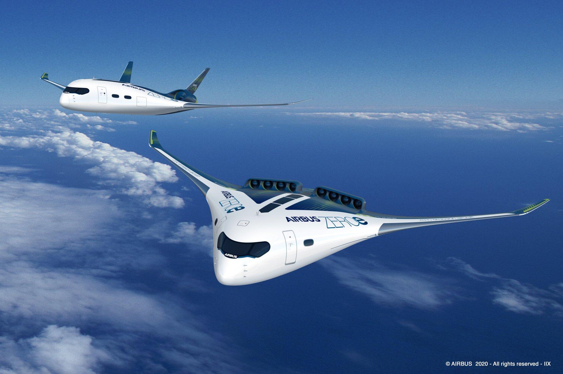 AirbusZeroE Blendedwing Conceptplanes B2