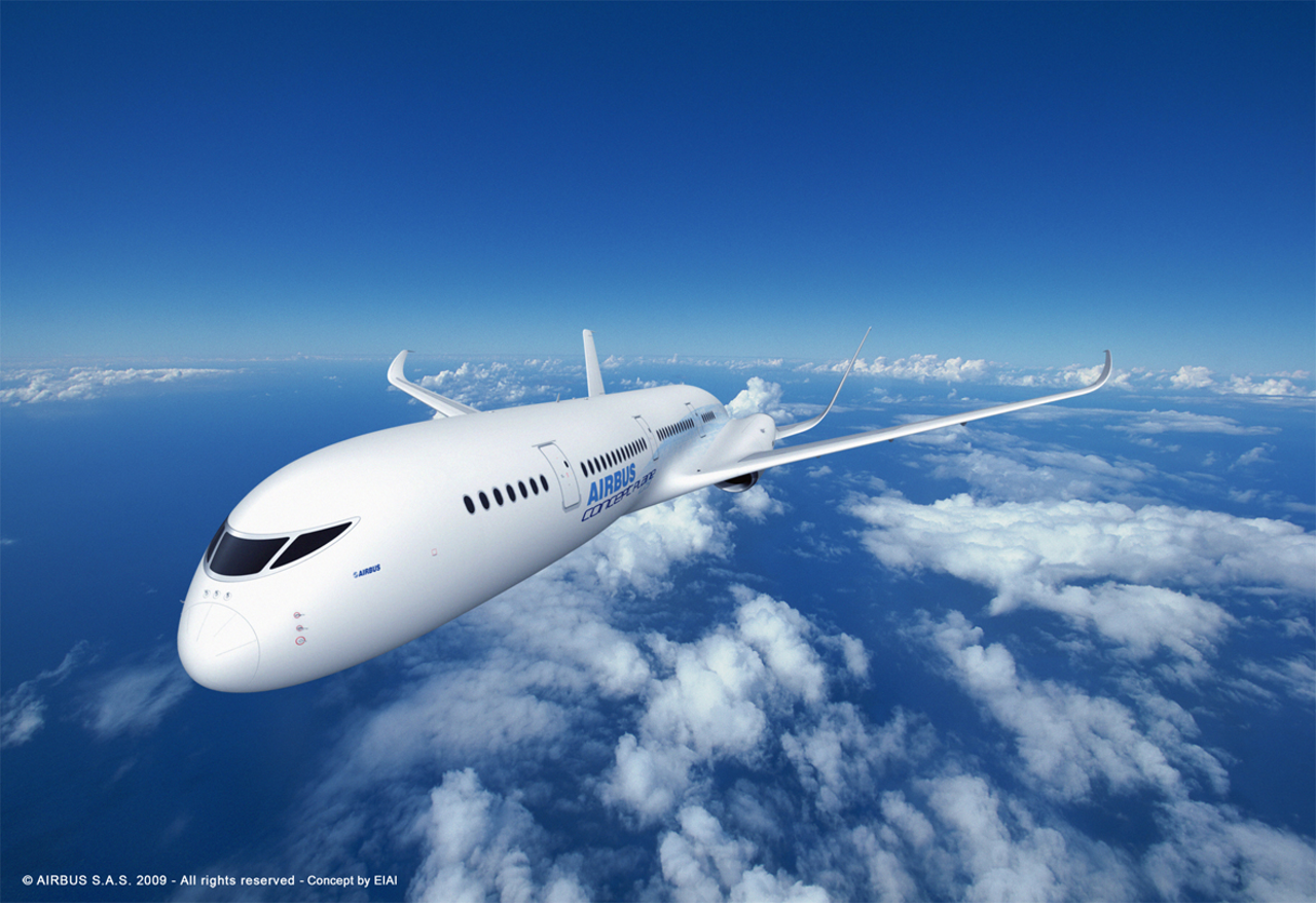 A computer rendering of a concept plane