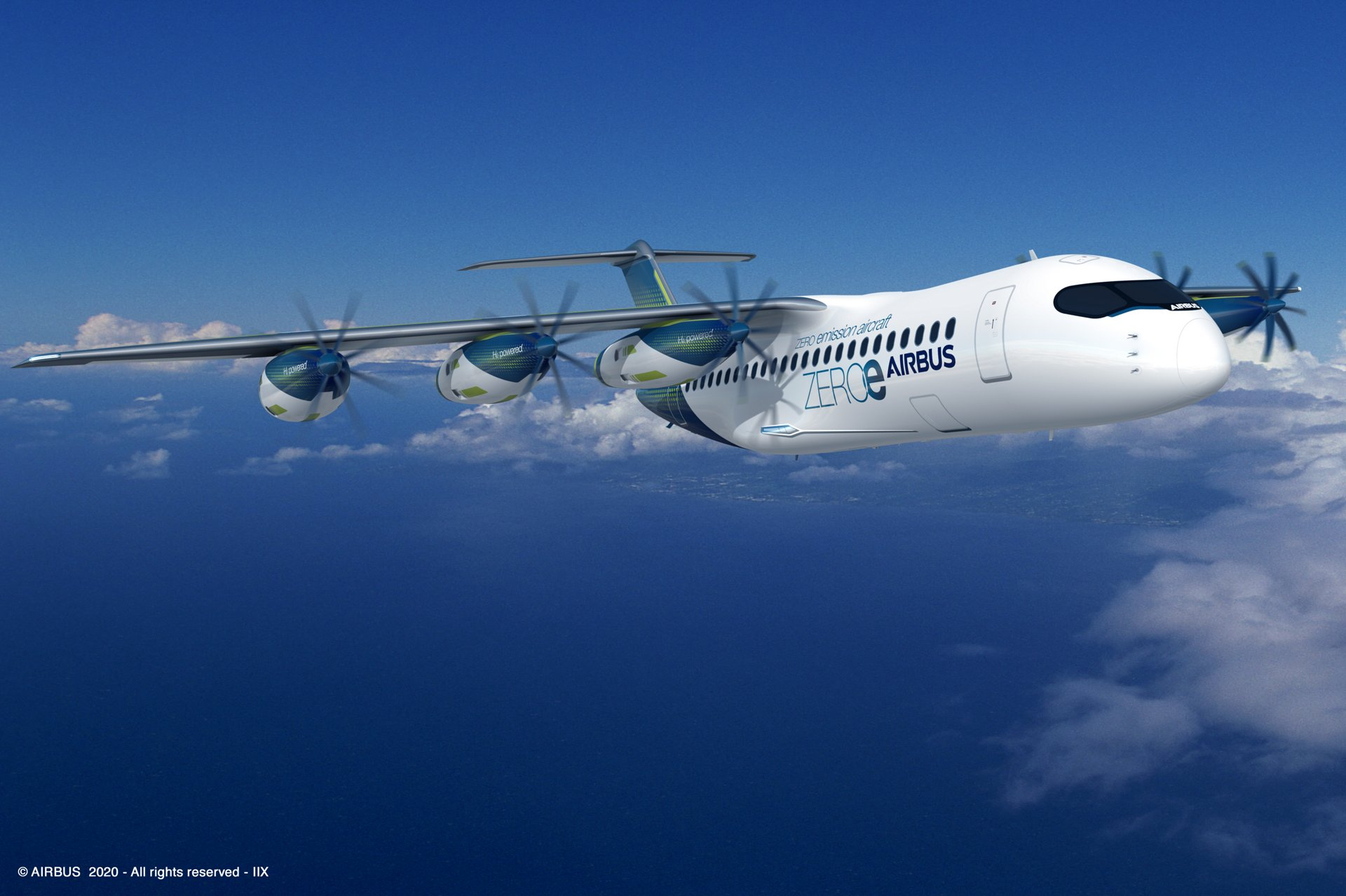 "The radical design includes six removable fuel-cell turboprop motors that Airbus engineers are studying to determine how scalable the ""pod"" configuration could be to a large commercial aircraft."