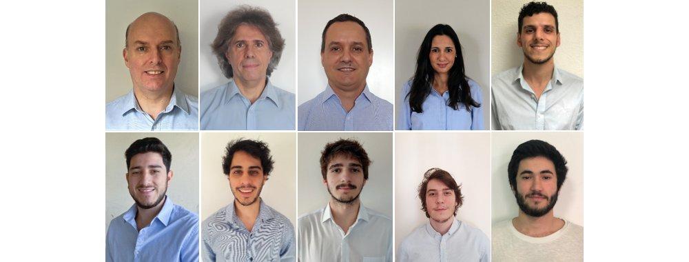 Rafael Sotelo, Gerardo Beltrame, Martín Machín, Laura Gatti, Ignacio Méndez, Maximiliano Stock, Joaquín Fernández, Diego Gibert, Juan-Diego Orihuela, José-Pedro Algorta (from left to right)