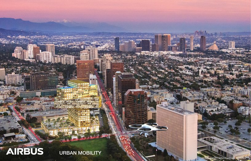 Airbus Urban Mobility infrastructure concept: Downtown Los Angeles