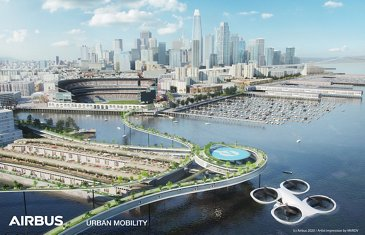 Airbus Urban Mobility infrastructure concept: San Francisco waterfront