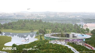 Airbus Urban Mobility infrastructure concept: Shenzhen business district