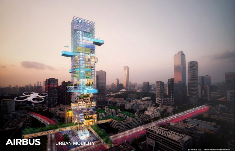Airbus Urban Mobility infrastructure concept: Shenzhen future residential