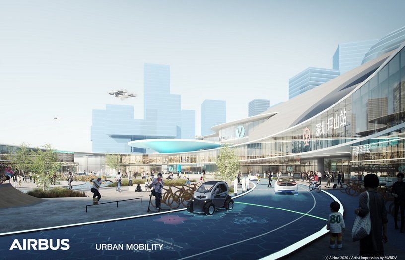 Airbus Urban Mobility infrastructure concept: Shenzhen transit hub