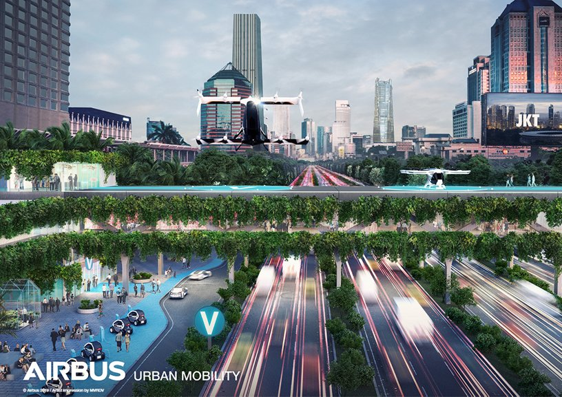 Airbus Urban Mobility infrastructure concept: Jakarta