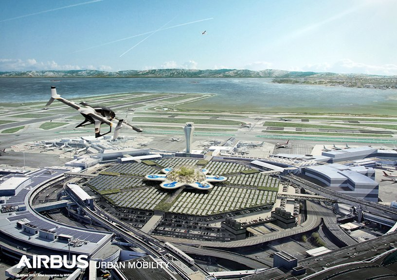 Airbus Urban Mobility infrastructure concept: San Francisco airport