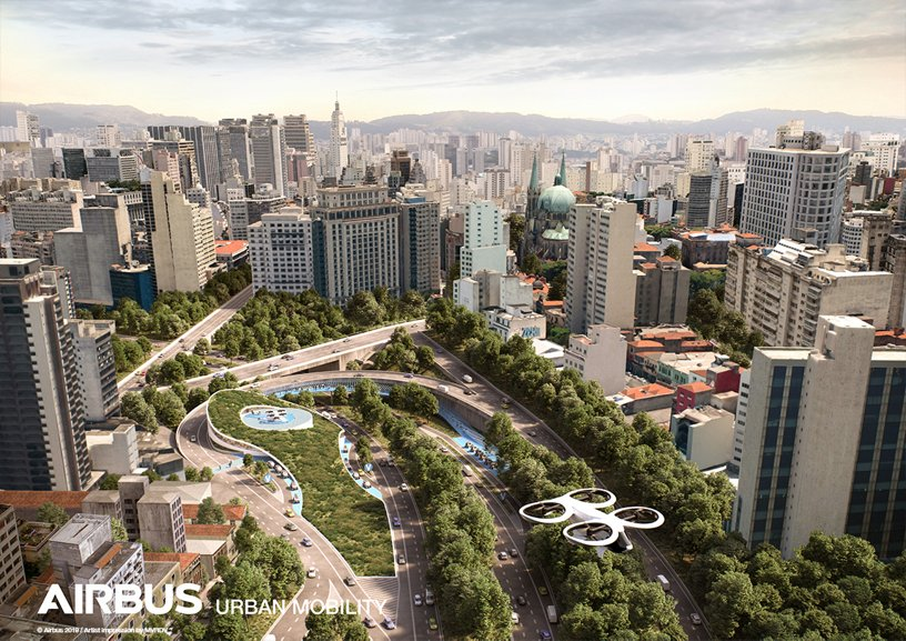 Airbus Urban Mobility infrastructure concept: Sao Paolo