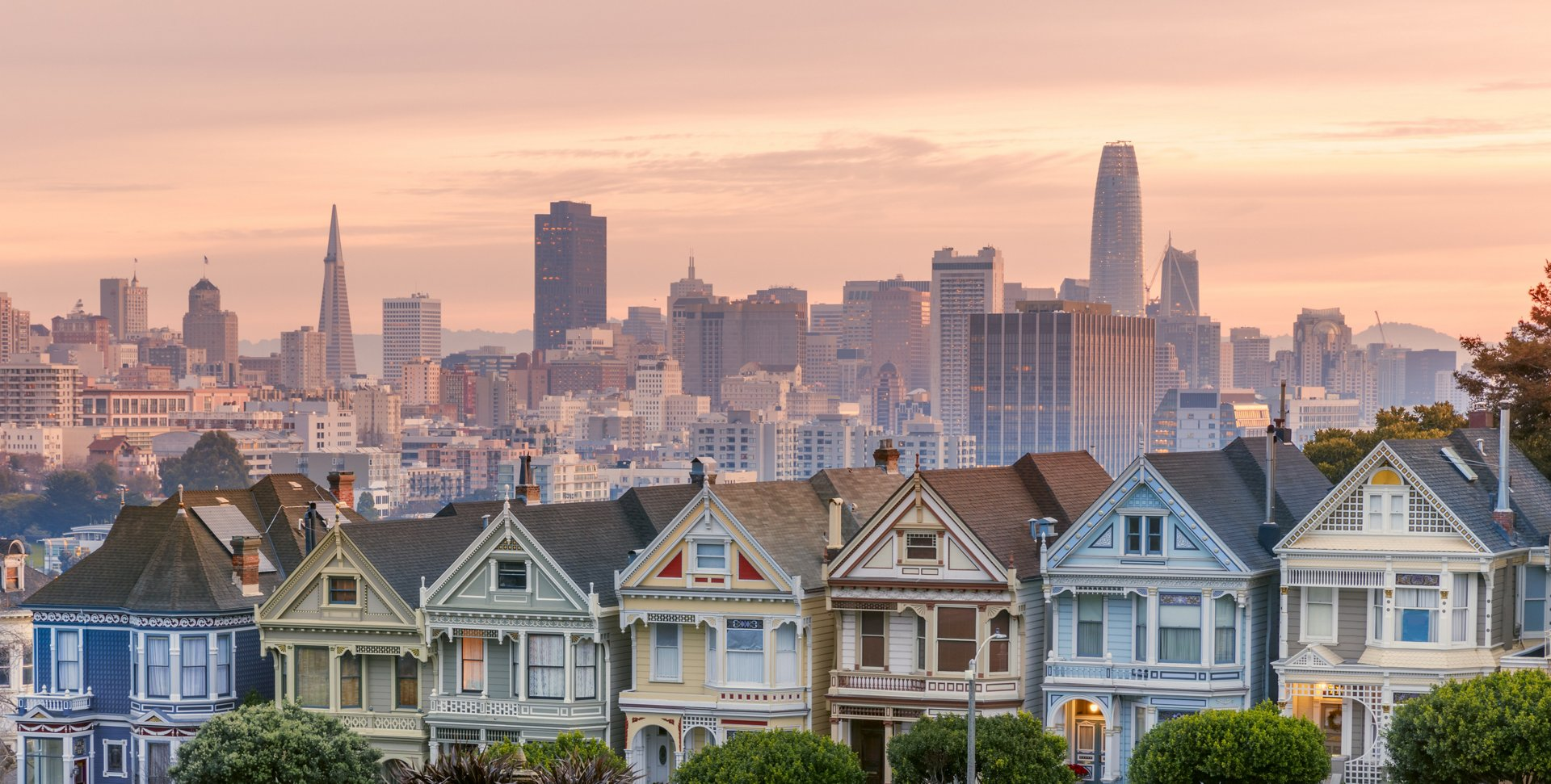 San Francisco - California, Urban Skyline, Street, City, USA. Salesforce Tower on the background.