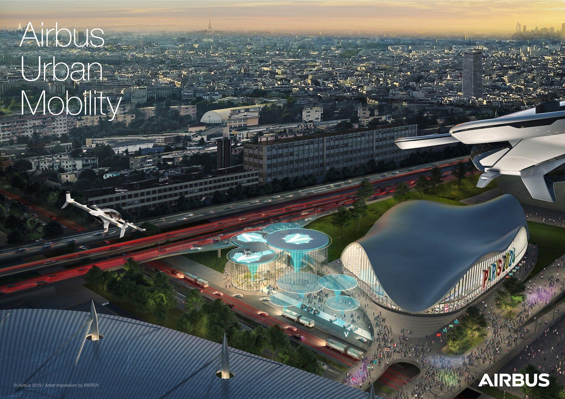Airbus Urban Air Mobility -  Paris Vision