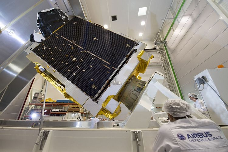 Airbus Defence and Space ships communications satellite Telstar 12 VANTAGE to launch